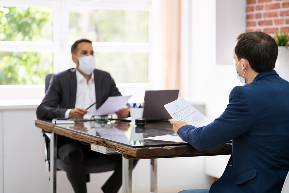 Wearing a mask in a job interview